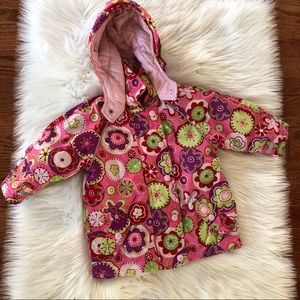 Hanna Andersson Floral Coat Winter Size 2 Girls
